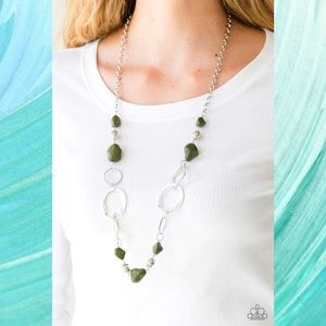 Thats TERRA-ific! Green Stone Necklace Set
